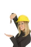 Beautiful blond holding keys Stock Images