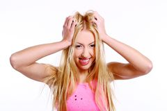 Beautiful blond lady Royalty Free Stock Photography