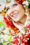 Beautiful blond lady having fabulous smile Stock Photos