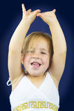 Beautiful blond little girl Stock Photos