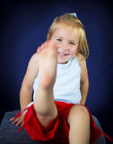 Beautiful blond little girl Royalty Free Stock Image