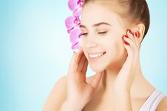 Beautiful blond mode morning l pampering, skincare concept Stock Photo