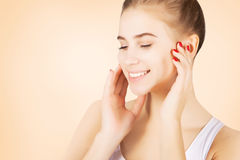 Beautiful blond mode morning l pampering, skincare concept Royalty Free Stock Photo