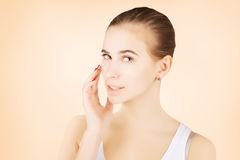 Beautiful blond mode morning l pampering, skincare concept Royalty Free Stock Images