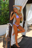 Beautiful blond model posing outside Stock Photography