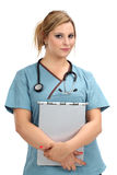 Beautiful blond nurse Royalty Free Stock Photography