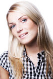 Beautiful blond with parted lips Stock Image