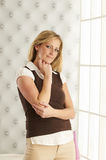 Beautiful Blond In Portrait Royalty Free Stock Images