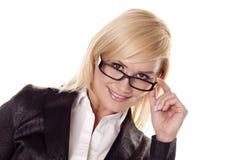 Beautiful blond portrait. Stock Photography