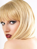 Beautiful Blond posing Stock Photography