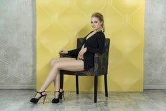 Beautiful blond posing Stock Photo