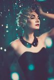 Beautiful blond retro woman Royalty Free Stock Photos