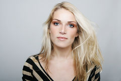 Beautiful blond with a sincere gentle expression Royalty Free Stock Photo