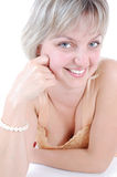 Beautiful blond smiling girl Stock Photo