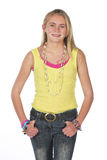 Beautiful blond teen Royalty Free Stock Image