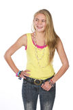 Beautiful blond teen Stock Photos