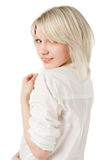 Beautiful blond teenage girl on Royalty Free Stock Images