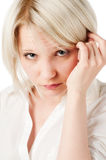 Beautiful blond teenage girl on Stock Photo