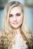 Beautiful Blond Teenage Girl With Blue  Eyes Royalty Free Stock Photography