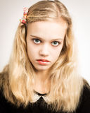 Beautiful Blond Teenage Girl Looking In The Camera Stock Photography
