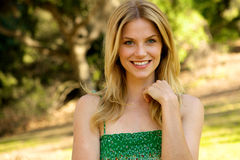 Beautiful Blond with Toothy Smile Royalty Free Stock Image