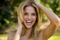 Beautiful Blond with Toothy Smile Royalty Free Stock Photo