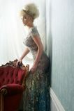Beautiful Blond in Wedding Dress Royalty Free Stock Images