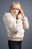 beautiful blond winter girl Royalty Free Stock Image