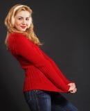 Beautiful blond winter woman Stock Image