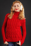 Beautiful blond winter woman Stock Images