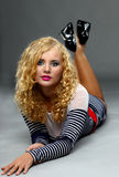 Beautiful blond Woman. Pin up Stock Images