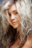 Beautiful blond woman stock photo