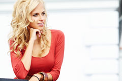 Beautiful blond woman Stock Photo
