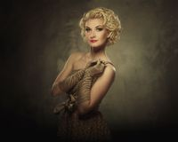 Beautiful blond woman royalty free stock image