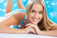 Beautiful blond woman Stock Photography