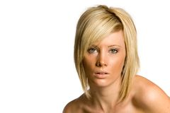 Beautiful blond woman royalty free stock image