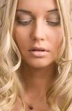 Beautiful blond woman royalty free stock photo