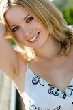 Beautiful Blond Woman. Beautiful young blond woman smiling stock photo