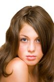 Beautiful blond woman. Closeup portrait of a beautiful blond woman Royalty Free Stock Images