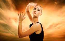 Beautiful blond woman. Portrait of a beautiful blond woman outdoors Royalty Free Stock Images