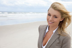 Beautiful Blond Woman At the Beach Royalty Free Stock Photo