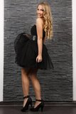 Beautiful blond woman in black dress Royalty Free Stock Images