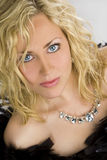 Beautiful Blond Woman With Blue Eyes Royalty Free Stock Images