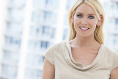 Beautiful Blond Woman With Blue Eyes Stock Photos