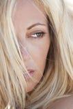 Beautiful Blond Woman Close Up Portrait stock photos
