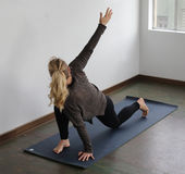 Beautiful Blond Woman Doing Yoga Royalty Free Stock Image