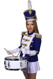 Beautiful blond woman drummer Royalty Free Stock Image