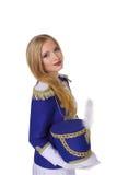 Beautiful blond woman drummer Stock Image