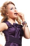 Beautiful blond woman with fashion hairstyle Royalty Free Stock Photography