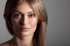 Beautiful Blond Woman. Healthy Long Hair. Make Up. Stock Photos